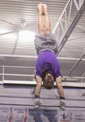 Landen Blixt of Fowlerville got started in gymnastics at 18 months old. He's been competing since he was 5.