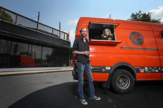 Shawn Steele and Kristina Addington are going to open V-Grits at the former Monkey Wrench location.  Currently V-Grits operates out of a food truck.