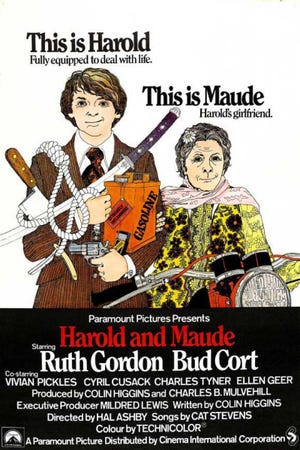 """Harold and Maude"" is this weekend's midnight movie at the Studio on the Square."