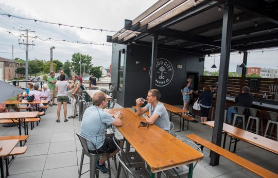 Good City Brewing's rooftop offers an elevated view with Milwaukee-made craft beer on tap.