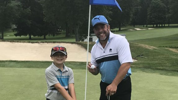 Bobby Deiorio sank his first hole in one Saturday, while playing with his son, Nicholas.