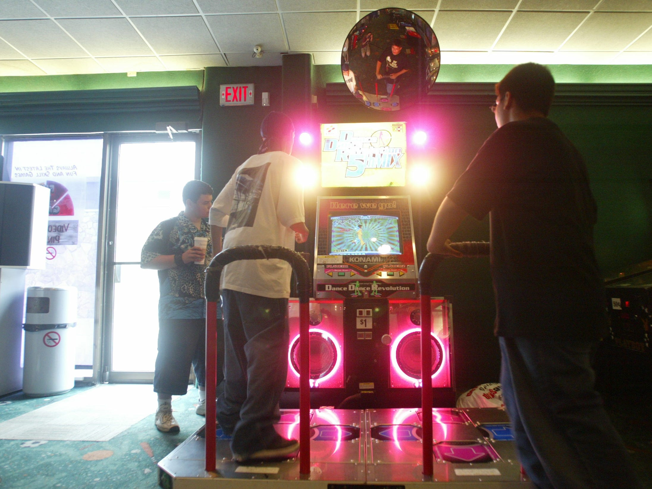 Dance, Dance Revolution machine at Fun N Games at Willowbrook Mall in Wayne.