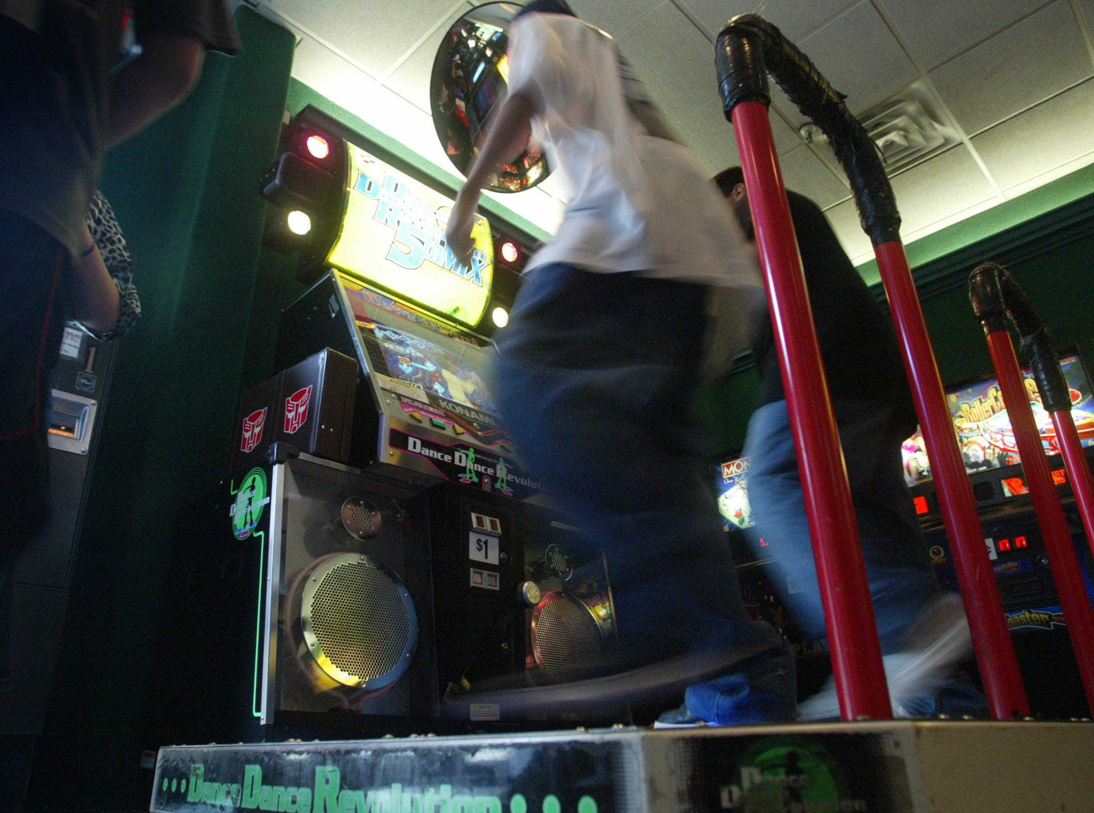 Dance Dance Revolution game at Fun N Games in Wayne.