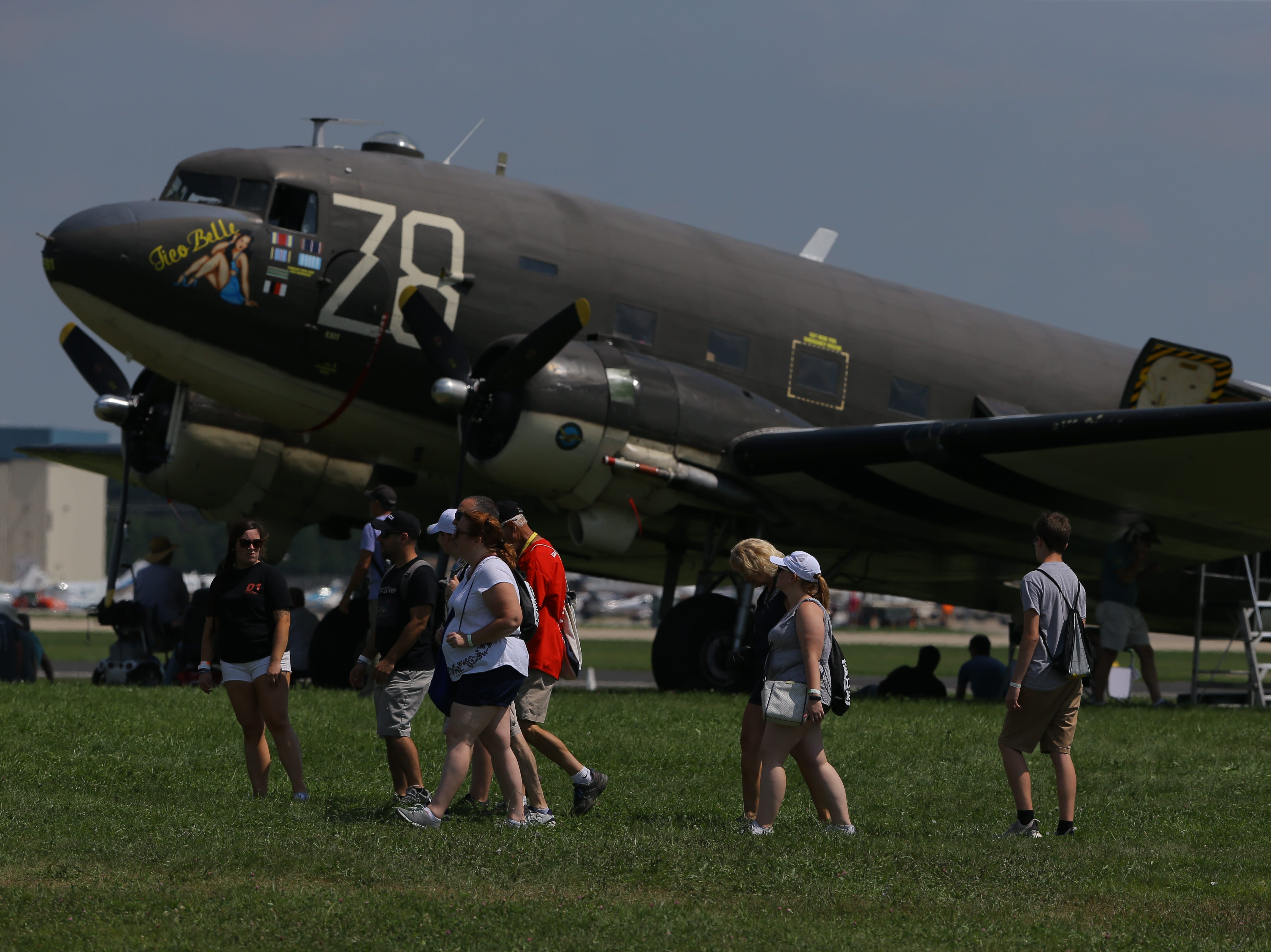 Warbirds were popular with spectators, Tuesday, July 24, 2018, in Oshkosh, Wis.  The 66th annual Experimental Aircraft Association Fly-In Convention, AirVenture 2018 draws over 500,000 people annually to the area.  The convention runs through July 29. Joe Sienkiewicz/USA Today NETWORK-Wisconsin