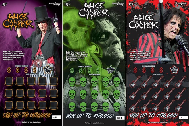 The Alice Cooper Scratchers tickets are available from Aug. 7 through Halloween or while supplies last.