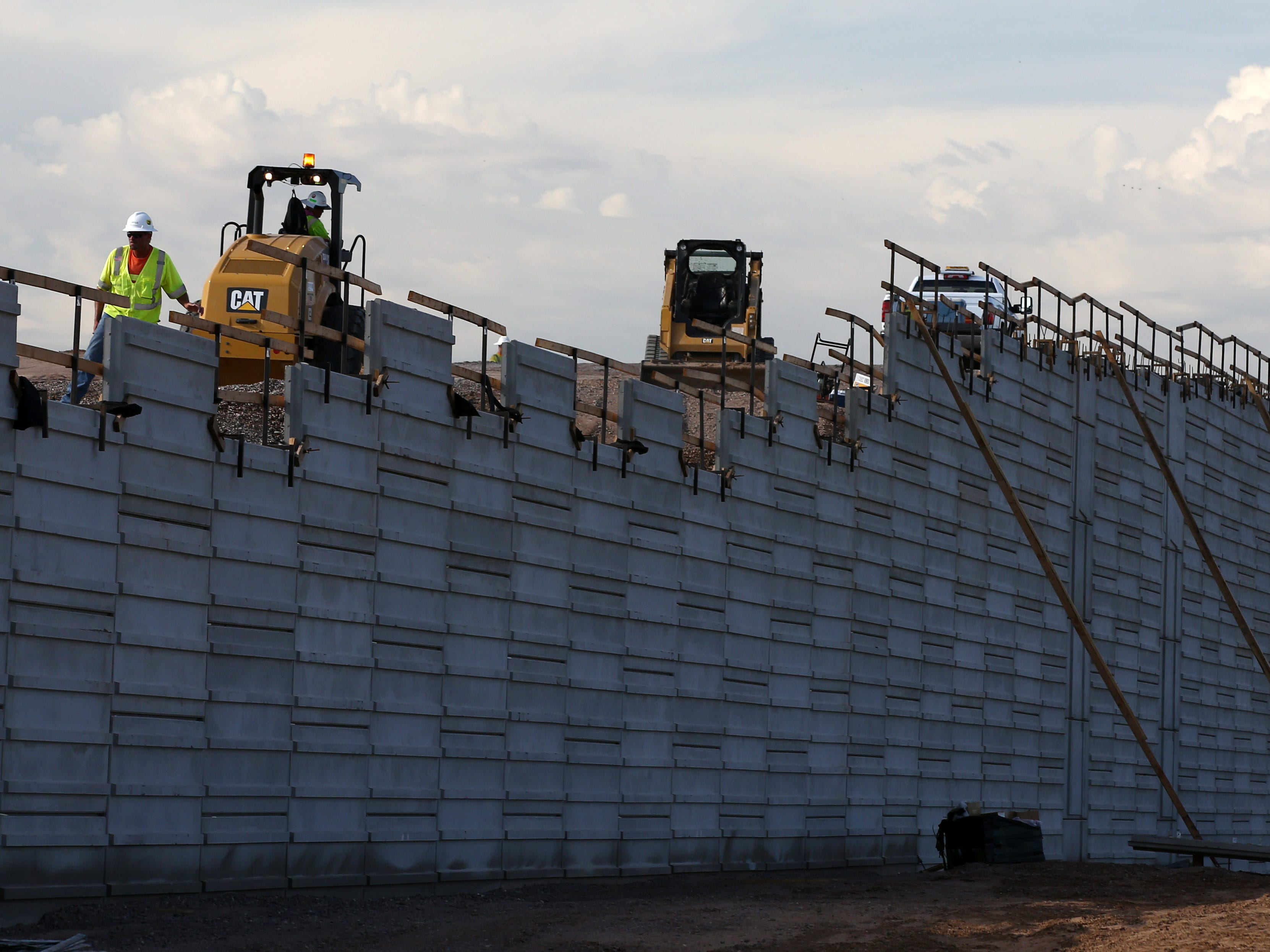 Construction and maintenance crews working on Arizona's highways are taking every precaution to beat the heat with temperatures soaring this week on July 24, 2018, in Phoenix, Ariz.