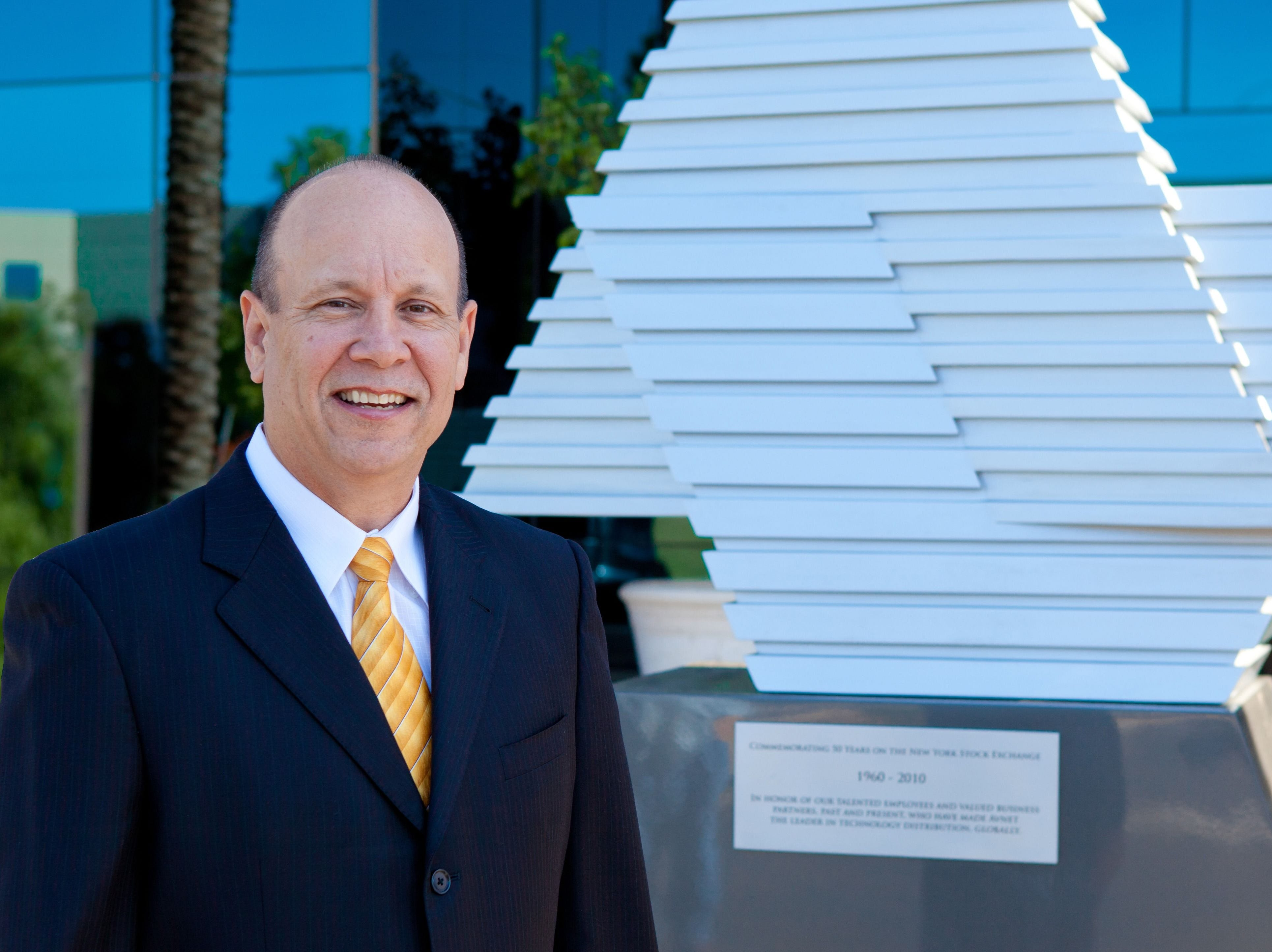 Avnet Inc.'s Richard Hamada (ex-CEO): Summary compensation: $4,356,815. Adjusted compensation: $8,610,170. TTM profit: $134 million. TTM revenue: $18.6 billion. 2017 stock:  (15.3 percent). Capitalization: $5.2 billion.