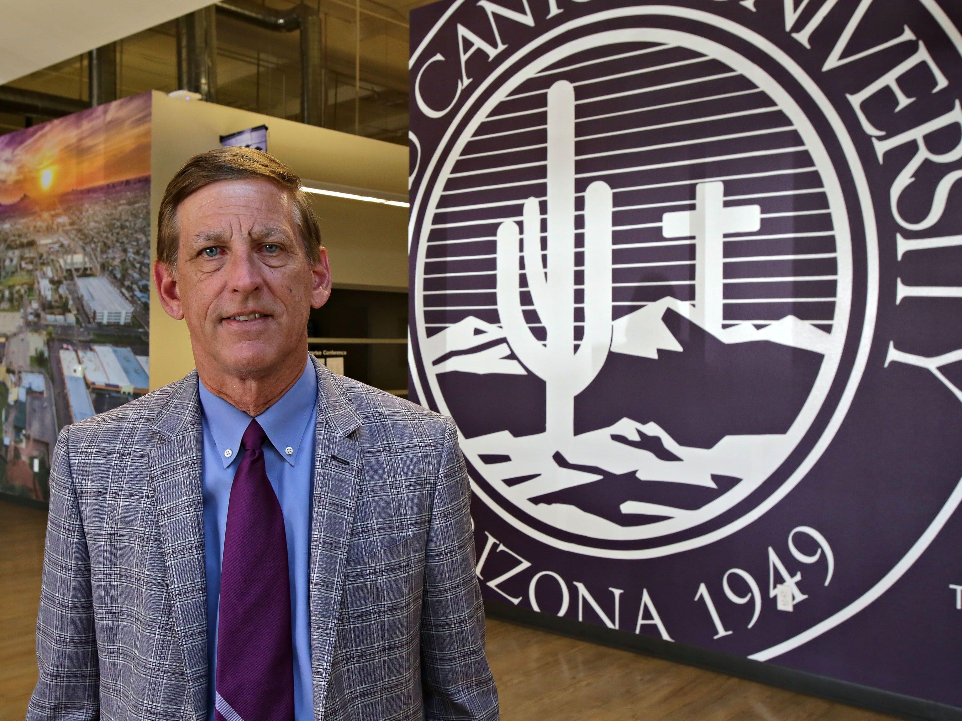 Grand Canyon Education Inc.'s Brian Mueller: Summary compensation: $2,799,914. Adjusted compensation: $16,755,583. TTM profit: $221 million. TTM revenue: $1 billion. 2017 stock: 53.2 percent. Capitalization: $5.7 billion.