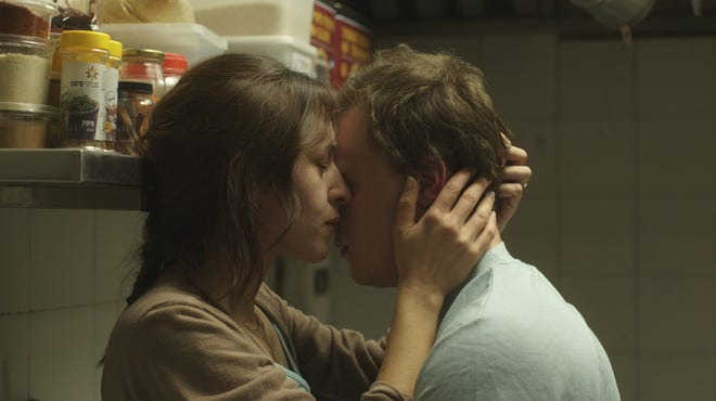 "Sarah Adler (left)  and Tim Kalkhof in ""The Cakemaker."""