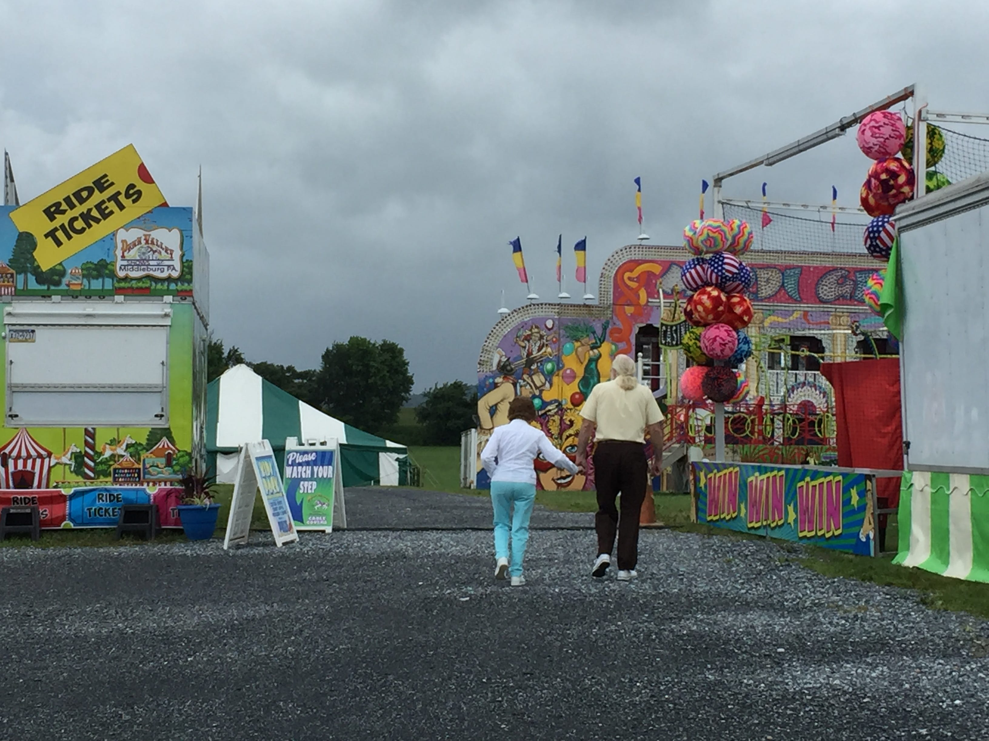 Rain continued to soak the region on Tuesday, but it couldn't dampen everybody's spirits at the Lebanon Area Fair.