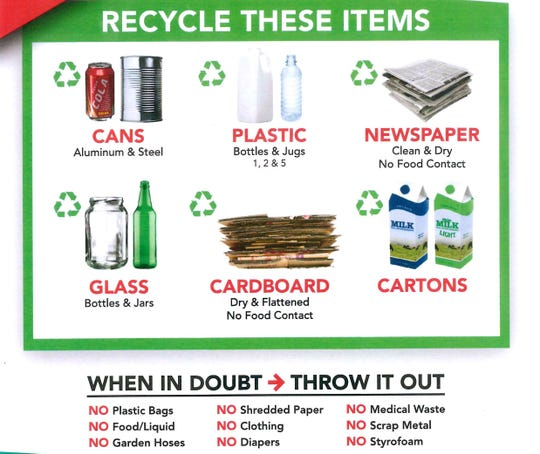 As of this summer, these are the new recycling guidelines implemented by Penn Waste.