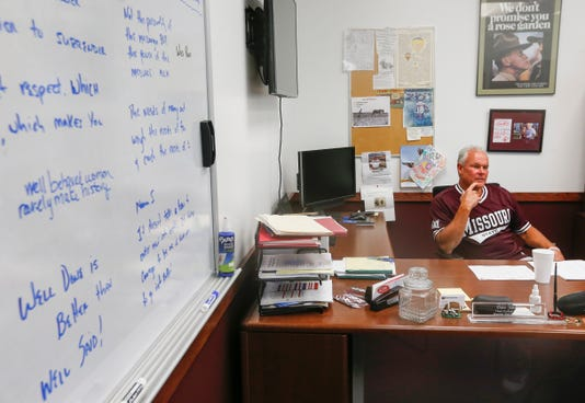 Missouri State University head football coach Dave Steckel