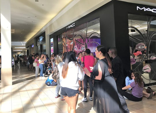 Expect long lines at MAC Cosmetics' National Lipstick Day giveaway. This was the case in 2017 at the Town Center at Boca Raton mall in Florida.