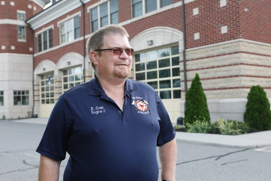 Edward J. Scott, chairman of the board of fire commissioners, Mahopac Volunteer Fire Department, at their headquarters on Tuesday.