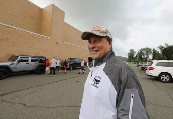 North Rockland football coach Tom Lynch during a practice at the school July 23, 2018. He sat out last season while battling cancer.
