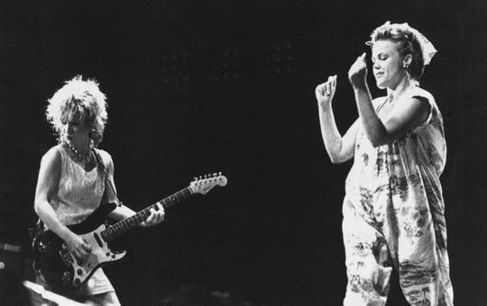 The Go-Go's perform during Rio De Janeiro's first Rock In Rio festival in Jan. 19, 1985. The 10-day event, billed as the biggest rock festival ever, drew 1.5 million people.