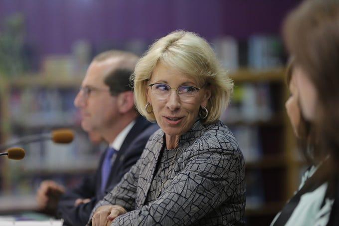 U.S. Secretary of Education Betsy DeVos speaks at Adams-Friendship Middle  School f5de94917ce4