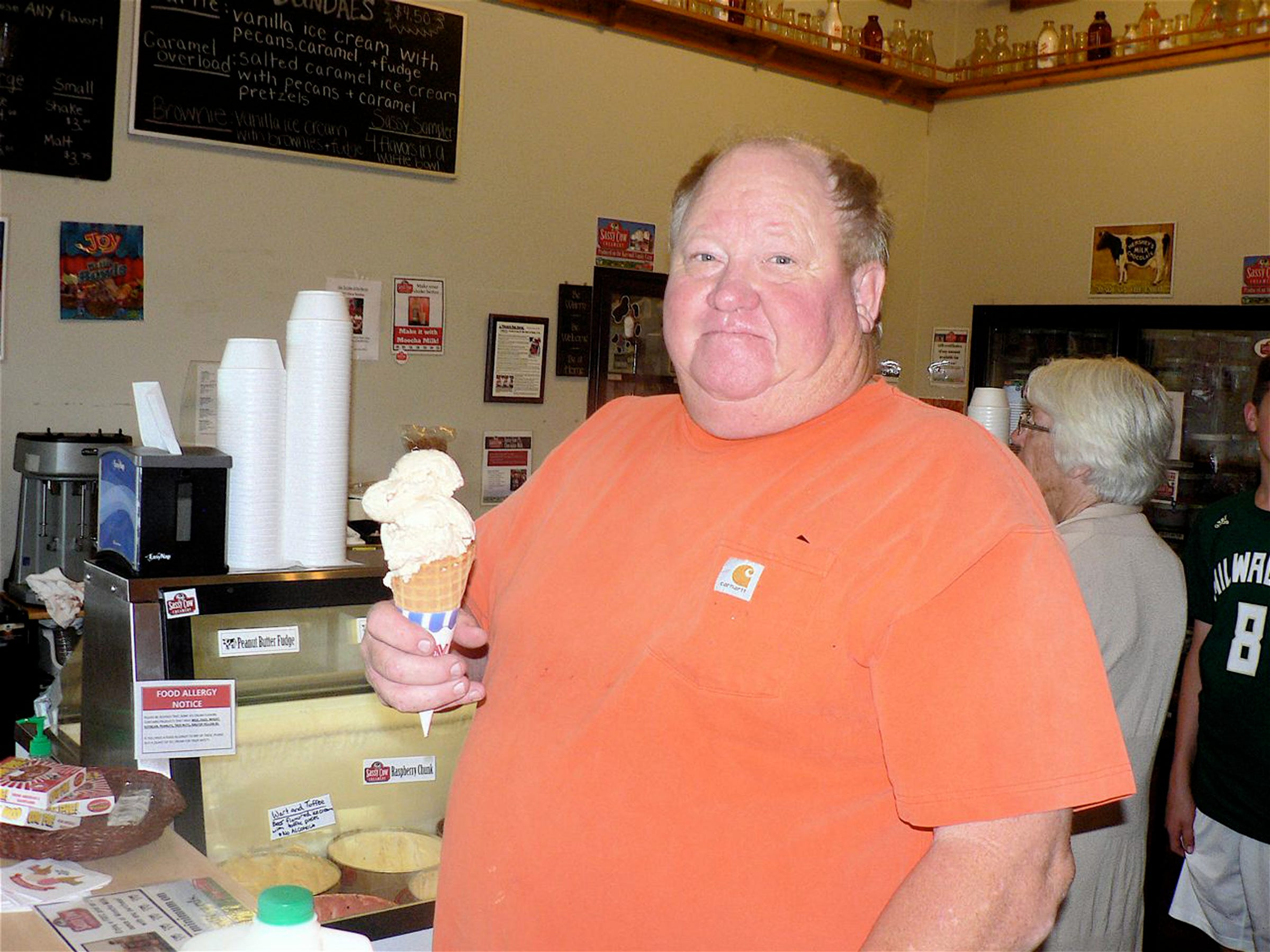 Bigger and older people like this Sun Prairie resident also love ice cream.