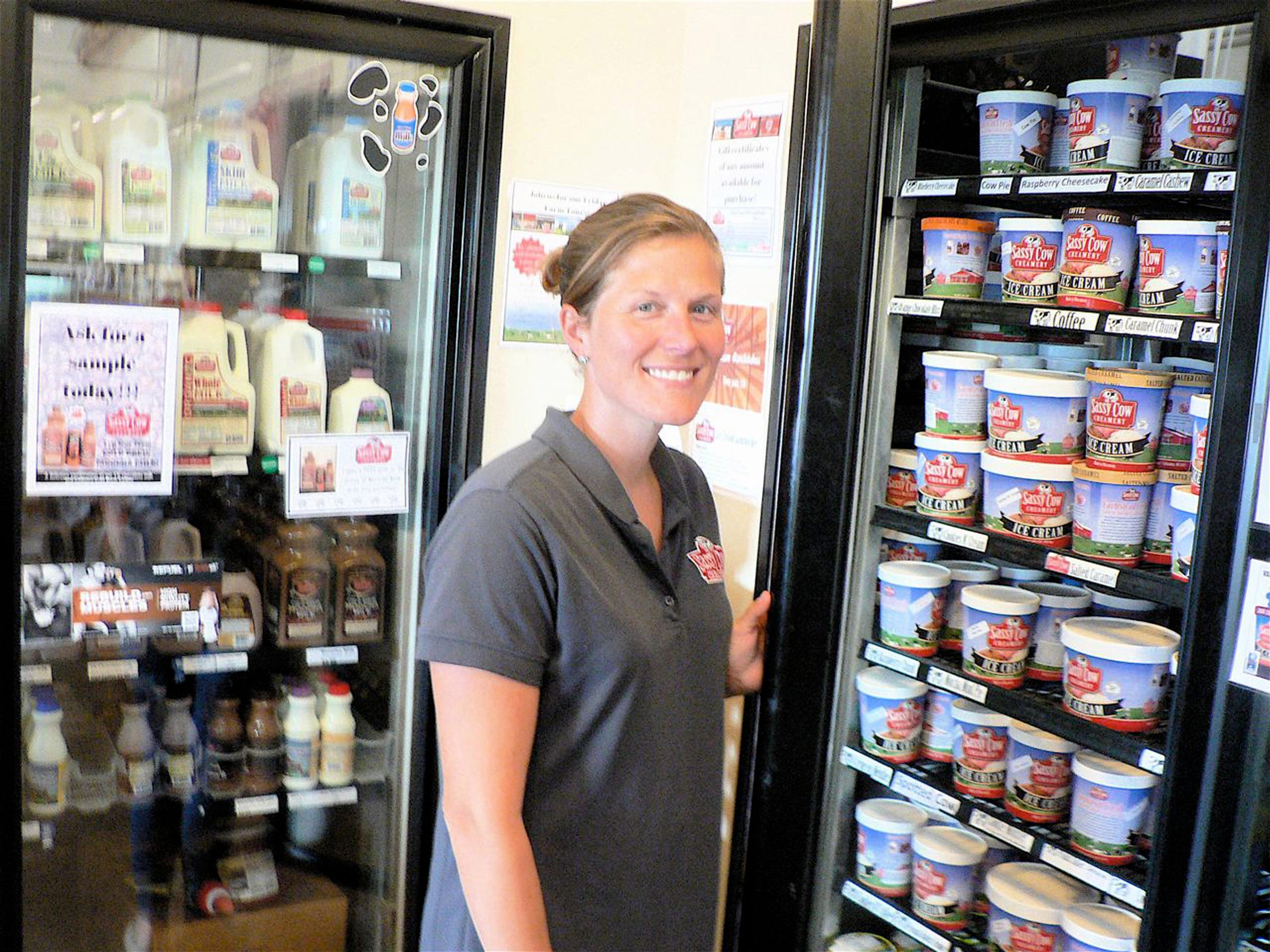 Kara Kasten Olson, store manager, has been with Sassy cow from day one.