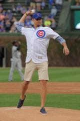 May 8: Former Cubs pitcher Kerry Wood at Wrigley Field in Chicago.