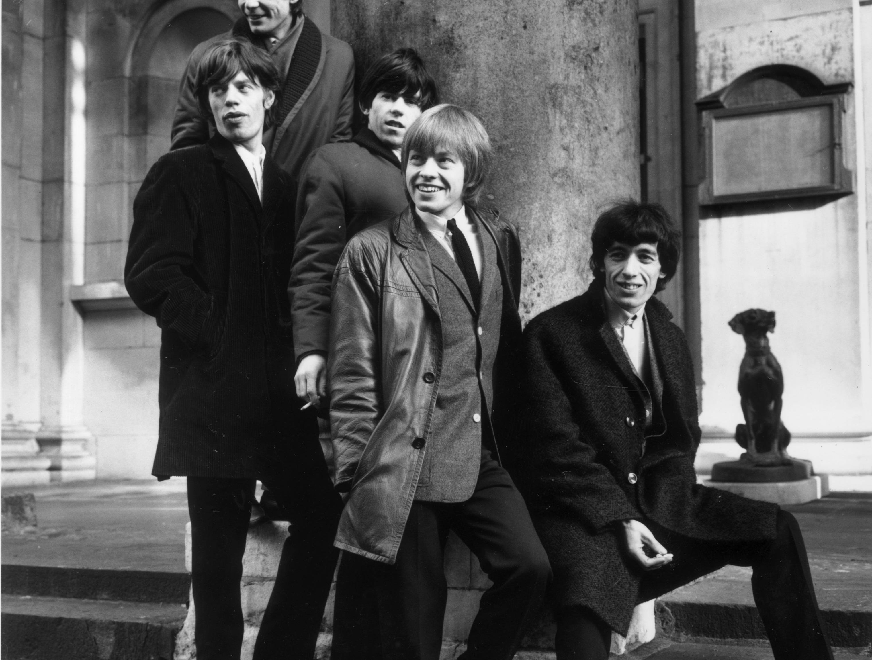 ORG XMIT: 138527053 (FILE PHOTO) On March 13, 2012 Carnegie Hall will play host to a tribute concert, celebrating the music of the Rolling Stones, featuring 21 acts, including Marianne Faithfull, Art Garfunkel and Rickie Lee Jones.  17th January 1964:  British rock group the Rolling Stones, (from left) Charlie Watts, Mick Jagger, Keith Richards, Brian Jones and Bill Wyman, outside St George's Church, Hanover Square, London.  (Photo by Terry Disney/Express/Getty Images) ORIG FILE ID: 3096359