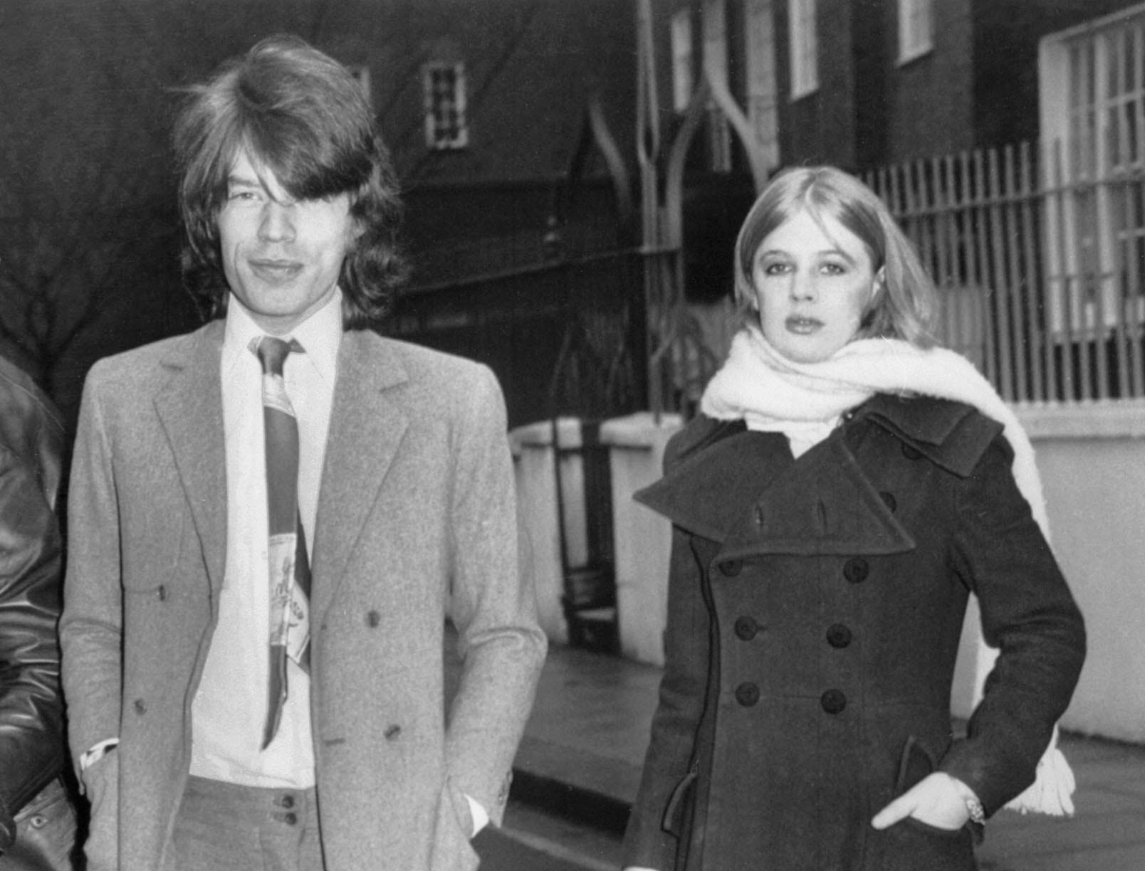 UNITED STATES:  A picture taken in the 1960's shows Rolling Stones singer Mick Jagger with his girlfriend Marianne Faithfull.  (FILM)  AFP PHOTO (Photo credit should read AFP/AFP/Getty Images)