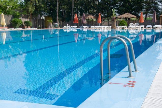 A public swimming pool.