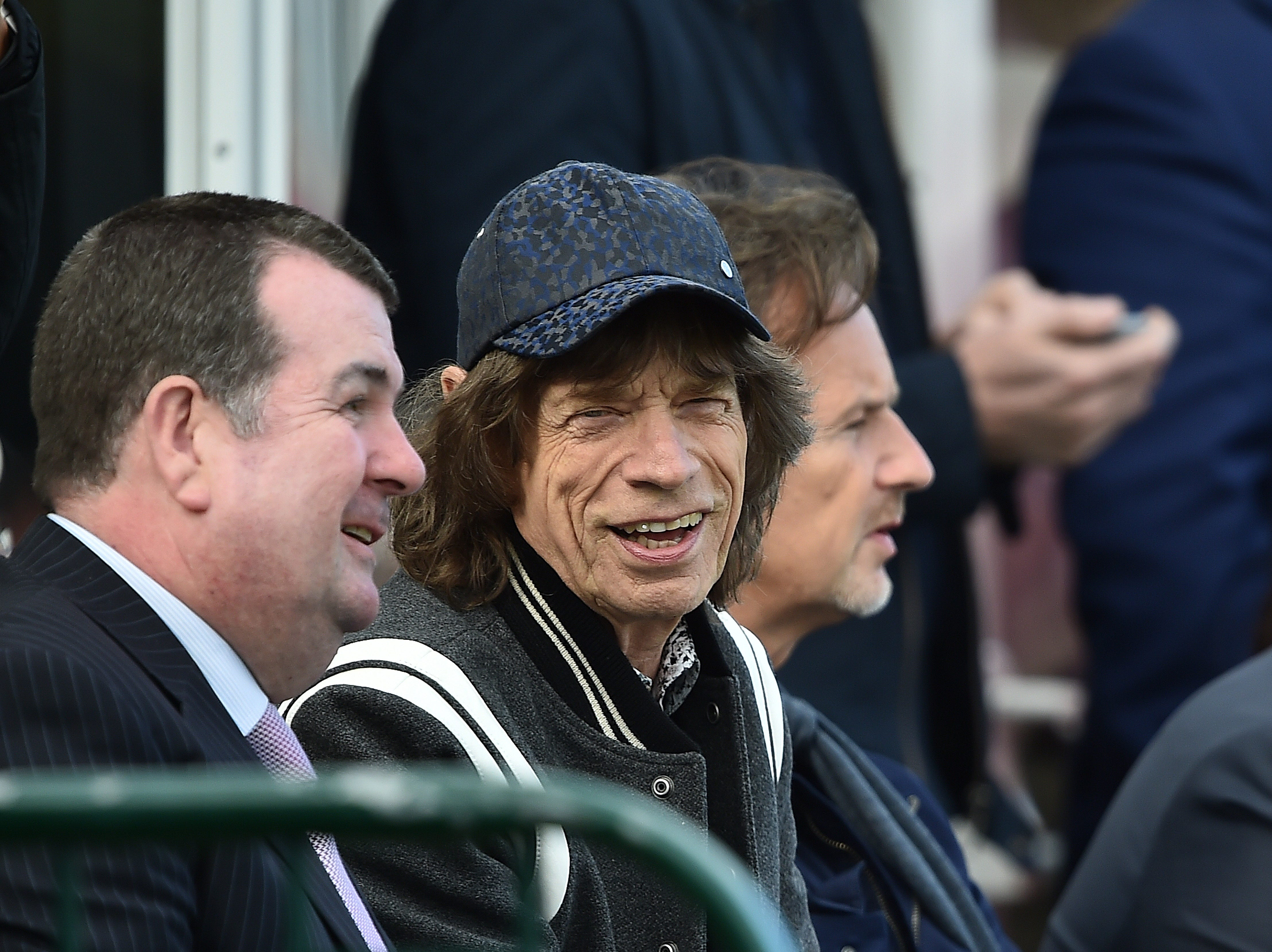 MALAHIDE, IRELAND - MAY 13: Sir Mick Jagger watches the afternoon's play during the third day of the test cricket match between Ireland and Pakistan on May 13, 2018 in Malahide, Ireland. (Photo by Charles McQuillan/Getty Images) ORG XMIT: 775163746 ORIG FILE ID: 958106602