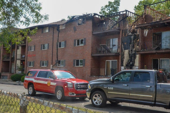 Fire Marshal Quincy Jones and building inspector Don Wilkinson have declared the entire Village Inn Apartments complex condemned.