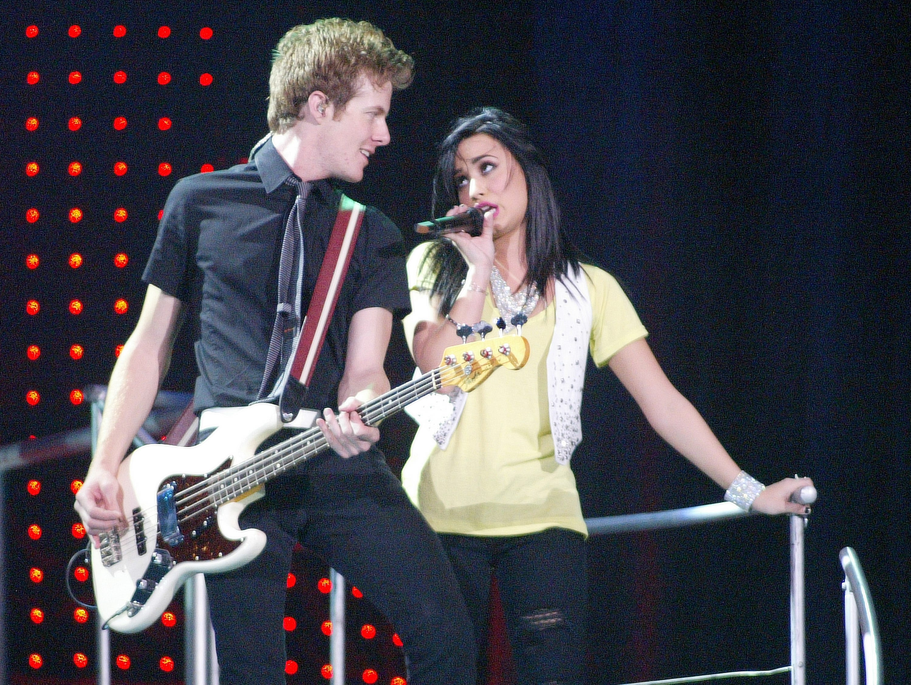 Disney Channel star Demi Lovato  performs at the US Bank Arena on Saturday, July 25, 2009.