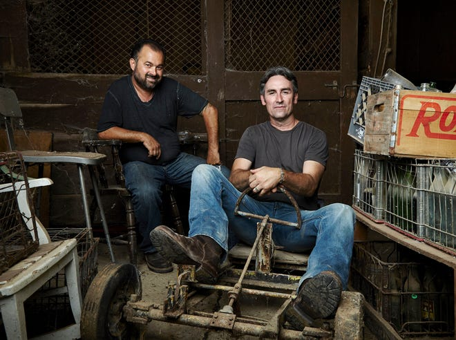 """Frank Fritz, left, and Mike Wolfe from the History channel show, """"American Pickers"""", are coming to Michigan in September 2018."""