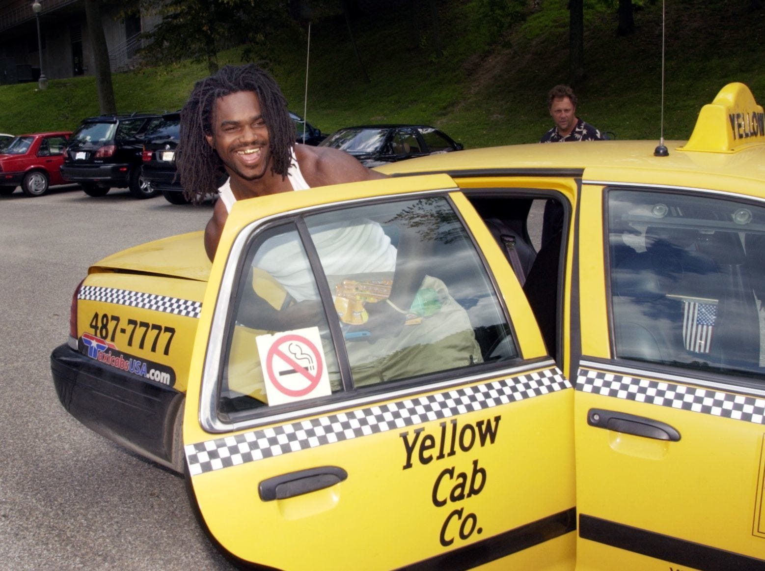 In 2002, Colts running back Edgerrin James made quite an arrival at training camp: He got there in a Yellow Cab.