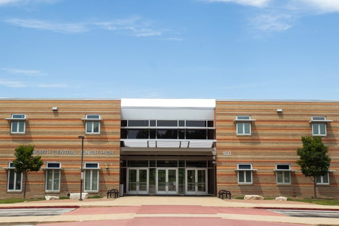 North Central Junior High School is seen on Wednesday, July 25, 2018, in Coralville, Iowa.
