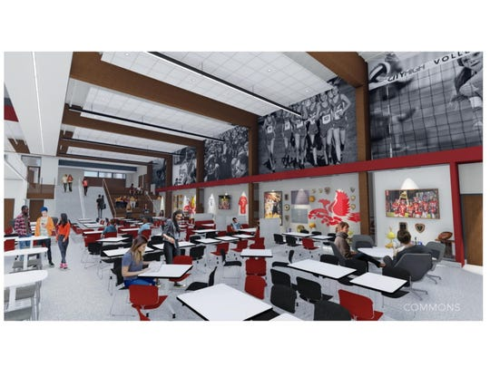 BLDD Architects provided ICCSD board members with renderings of their design ideas for City High School. The board approved the general idea of the designs on July 24.