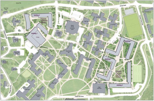 Aerial rendering of the North Campus project.