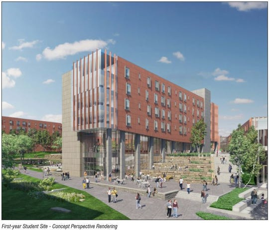 First-year dorm rendering