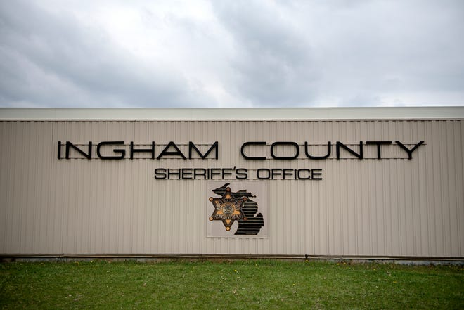 A sign on the Ingham County Sheriff's Office on Tuesday, April 24, 2018, in Mason.