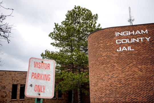The front entrance of the Ingham County Jail photographed on Tuesday, April 24, 2018, in Mason.