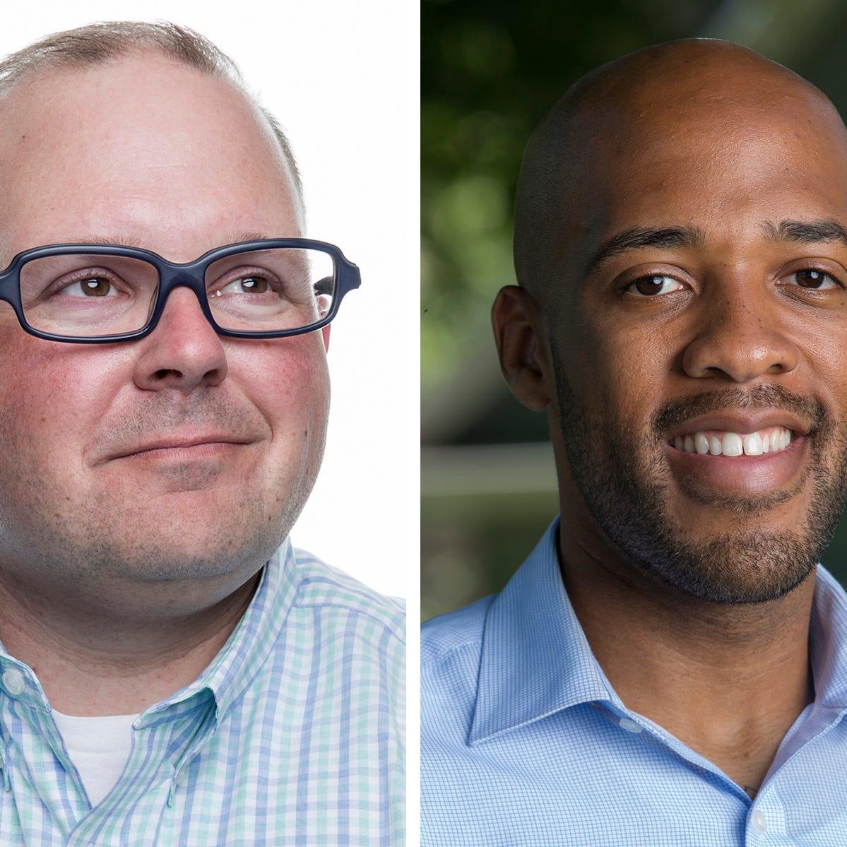 Kurt Kober and Mandela Barnes,  Democratic candidates for Lt. Governor