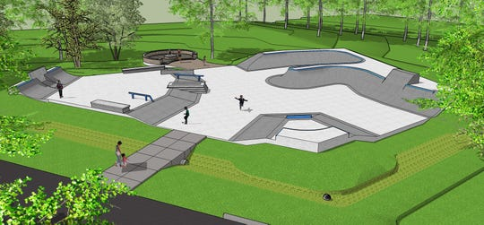 A rendering of the skate park design proposed in Pequannock.