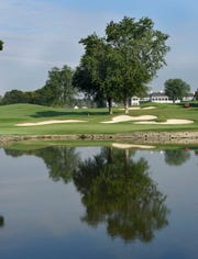 The famed 16th hole at Oakland Hills South Course.