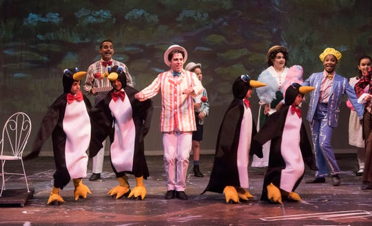 The cast of Mary Poppins takes to the rehearse for the Pensacola Little Theatre's its upcoming production of the musicals on Tuesday, July 24, 2018.
