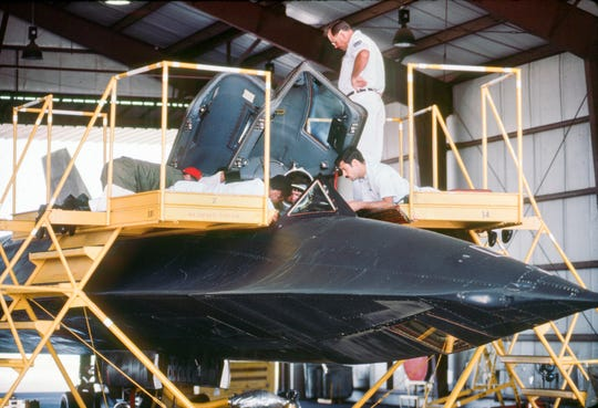 U.S. Air Force pilot Joe Kinego sits in the front seat of an SR-71aircraft.  (photo courtesy of Joe Kinego)