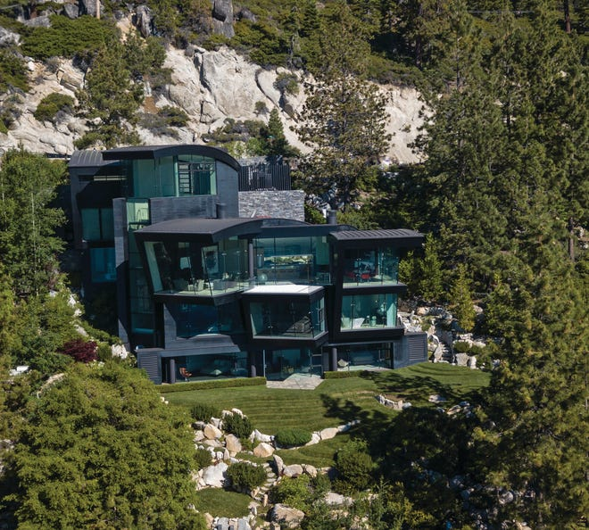 580 Gonowabie, a communion of glass and steel in Crystal Bay, is on the market for nearly $40 million. The home features 100 feet of Lake Tahoe shoreline.