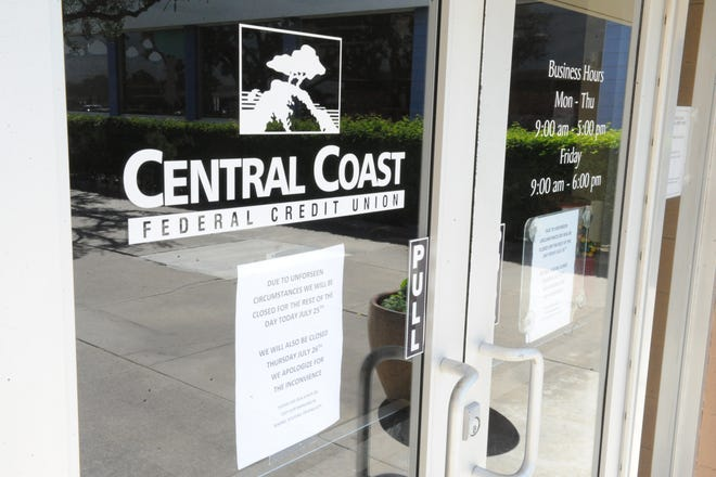 The Central Coast Federal Credit Union was closed Wednesday after a robbery.