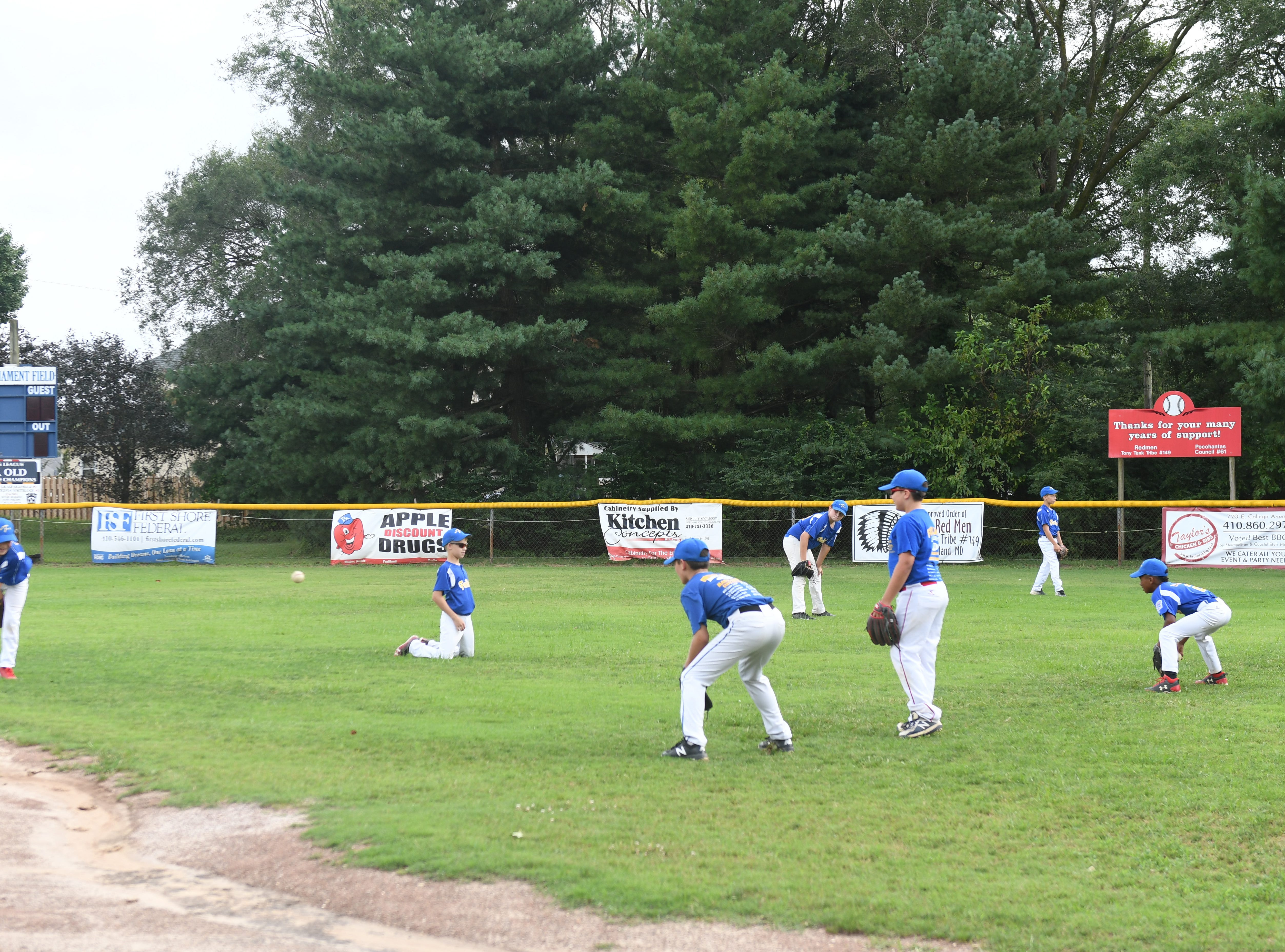 Fruitland Little League 11U team during practice on Tuesday, July 24, 2018.