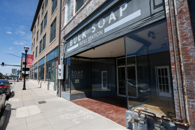 The Bulk Soap Refill Station is located at 210 S. Campbell Ave.