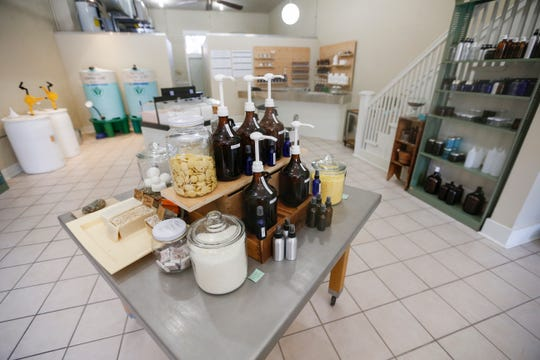 The Bulk Soap Refill Station, located at 210 S. Campbell Ave., carries a variety of laundry and dish soaps as well as body wash, shampoo and lotions.