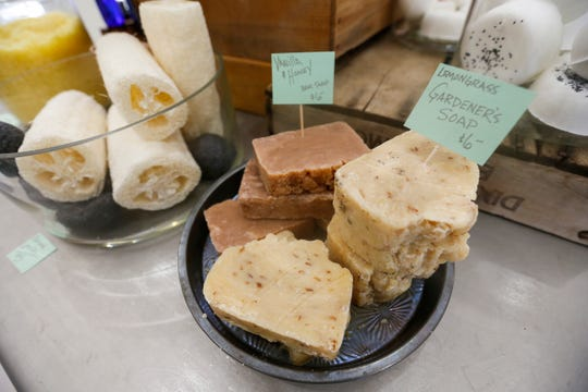 The Bulk Soap Refill Station, located at 210 S. Campbell Ave., carries a variety of bar soap.