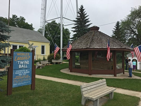 Darwin, Minnesota, population 350, is known for being the home of the World's Largest Ball of Twine Rolled by One Man. It is on display inside a protective gazebo that sits along the town's Main Street.